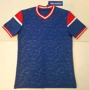 Trilnation Men's T Shirt Blue Red White
